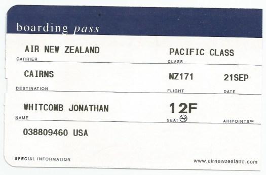 boarding pass - Flight NZ171 - 21-Sep
