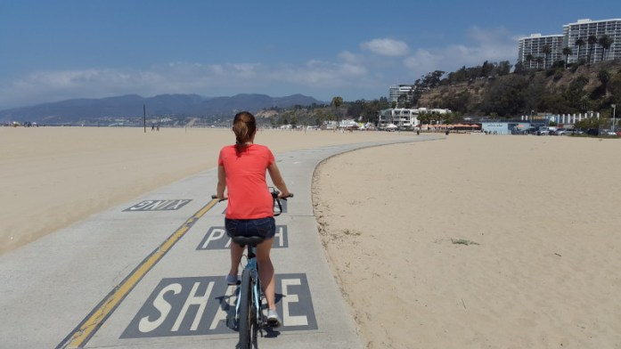 Bike riding Santa Monica