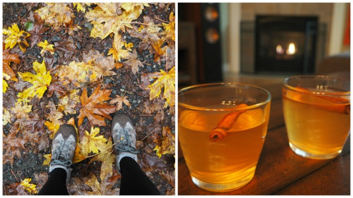 Autumn leaves and hot toddies