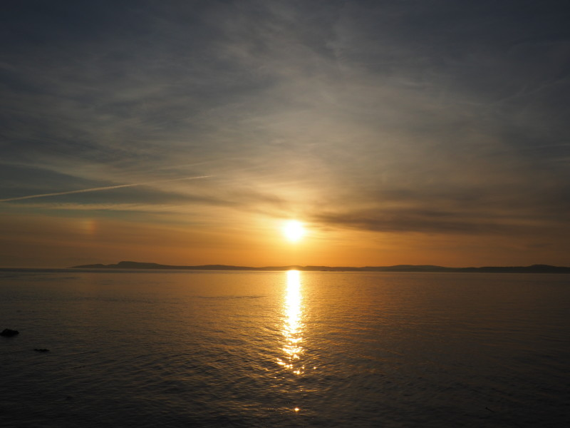 Sunset over Rosario Strait