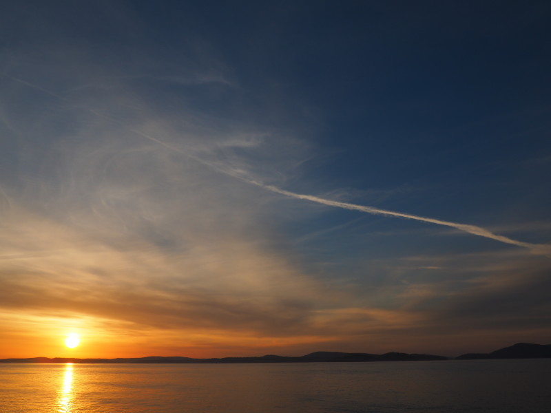 Sunset over Rosario Strait from Anacortes