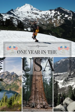 Reflections after one year in the USA. What a year it has been! Catch up on the adventures at www.liverecklessly.com