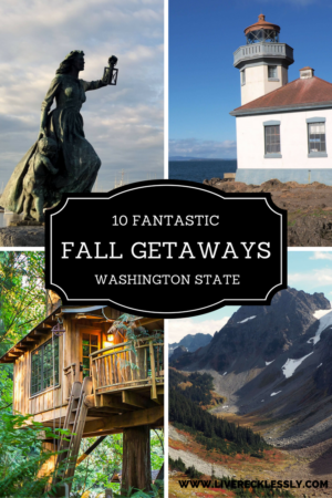 From rustic treehouses and camping to majestic rural lodges and city breaks, here are the 10 best fall weekend getaways in Washington State. Read more at www.liverecklessly.com