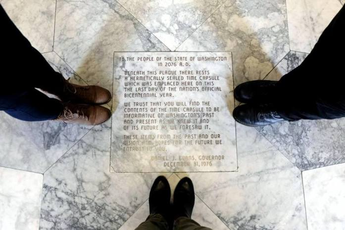 Time capsule in Washington State Capitol Building - Exploring town on a rainy weekend in Olympia, Washington's funky capital city - LiveRecklessly.com