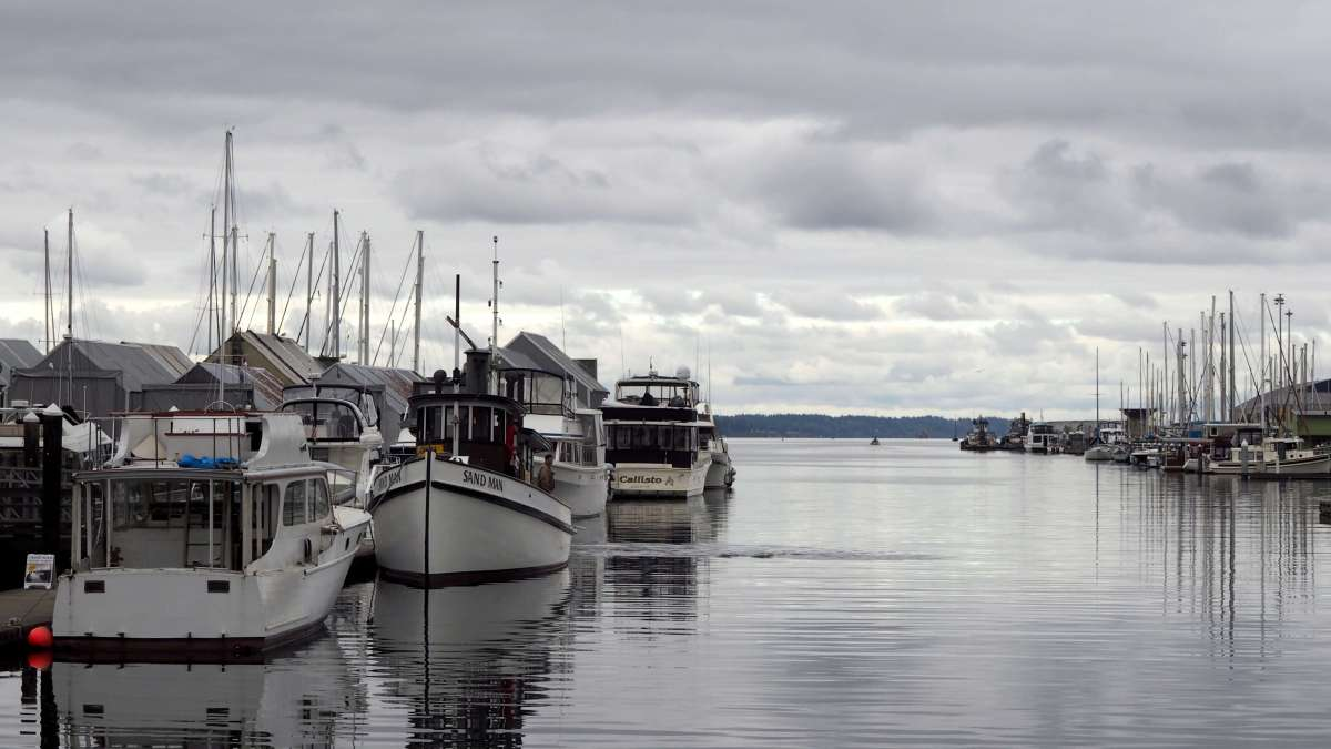 Boats in the harbor - Exploring town on a rainy weekend in Olympia, Washington's funky capital city - LiveRecklessly.com