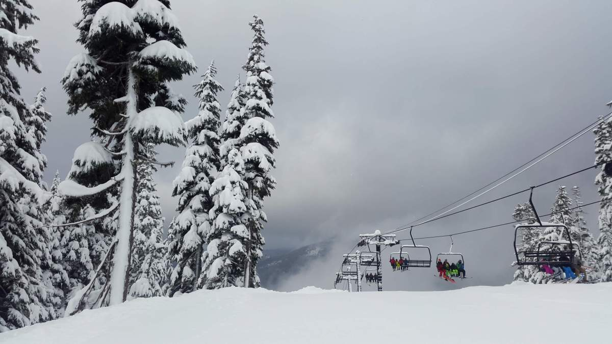 Disembarking the chairlift Mt Baker - Live Recklessly