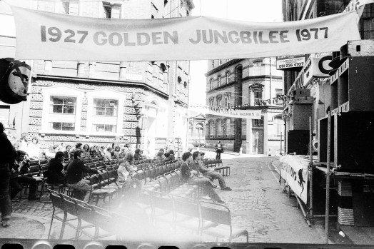 Golden Jungbilee 1927-77 banner