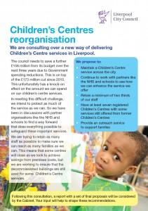Consultation leaflet - front