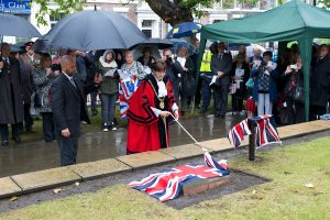 Lord Mayor unveils the stone