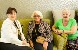 The Lord Mayor of Liverpool with Shallcross residents Joan and Carol