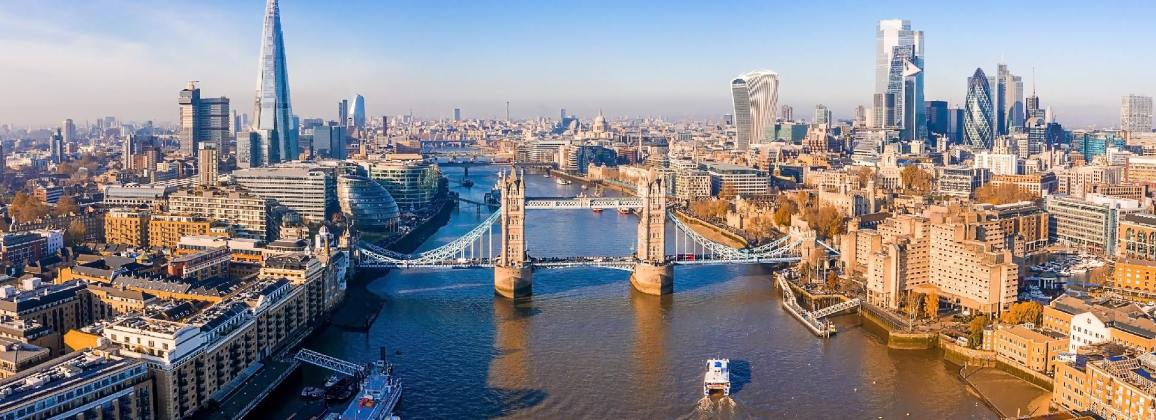 Tower Bridge in the City of London.