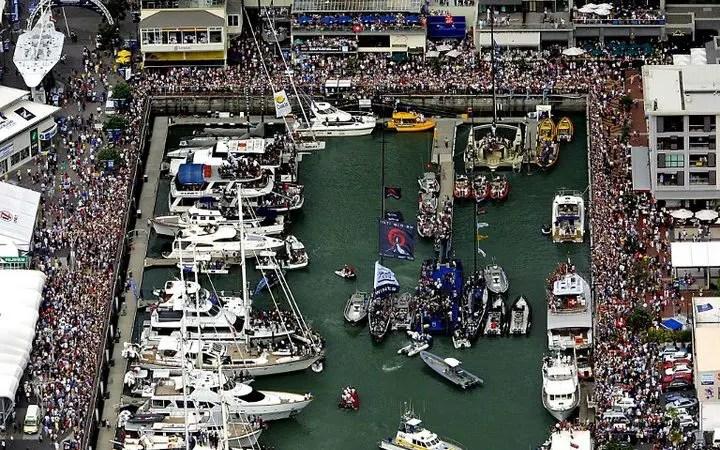 Auckland Viaduct Harbour célèbre le succès de l'America's Cup