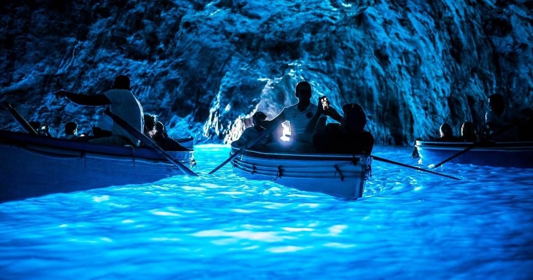 Blue Grotto in Capri