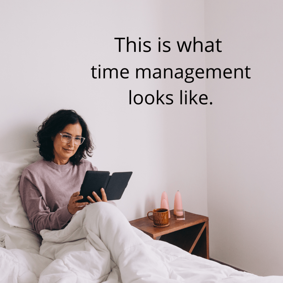 TIme management is reading