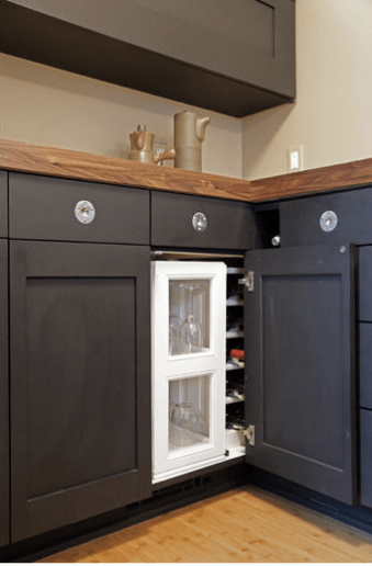 Kitchen Cabinets Corner how to deal with the blind corner kitchen cabinet | live simply