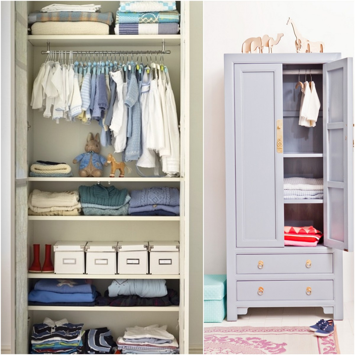 Children s armoire closet an easy storage solution live for Childrens closet
