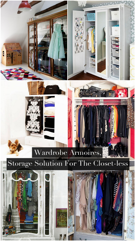 Wardrobe Armoires, Storage Solution For The Closet Less (9 Winning Examples  And Where To Buy)