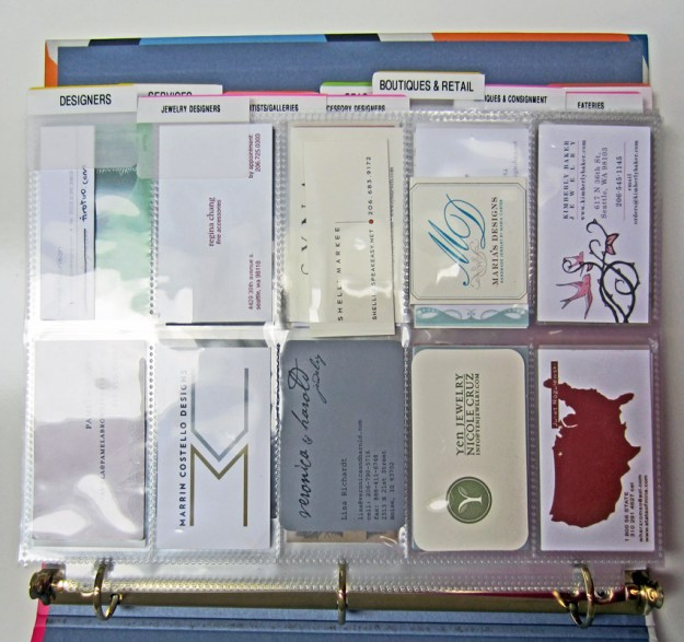 Diy business card organizer live simply by annie finally getting my business cards in order after seeing how easy it is cute binder colourmoves