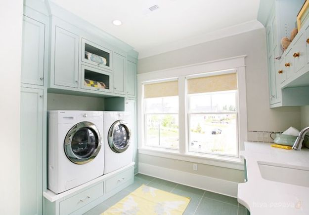 The ideal laundry room pedestal washer dryer live simply by annie the ideal laundry room definitely has a pedestal washerdryer more storage space and solutioingenieria Gallery