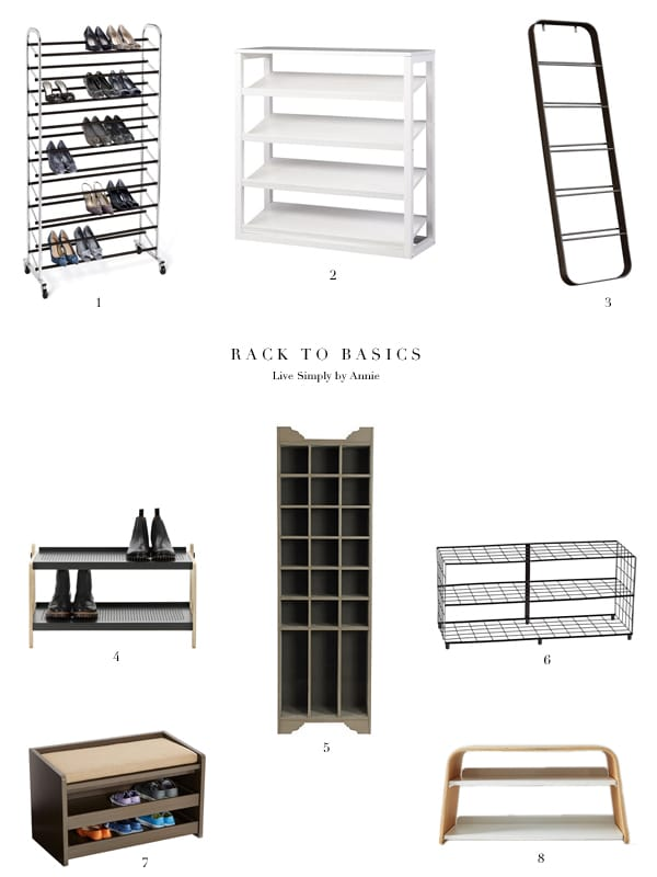 shoe racks for every space!