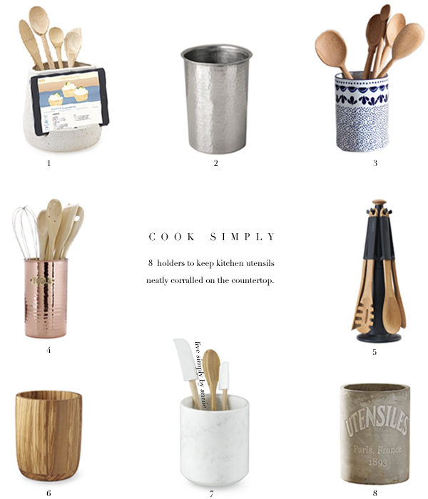 Stylishly functional kitchen utensil holders.