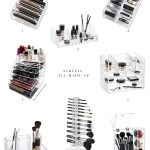 8 Clearly Functional Acrylic Makeup Organizers