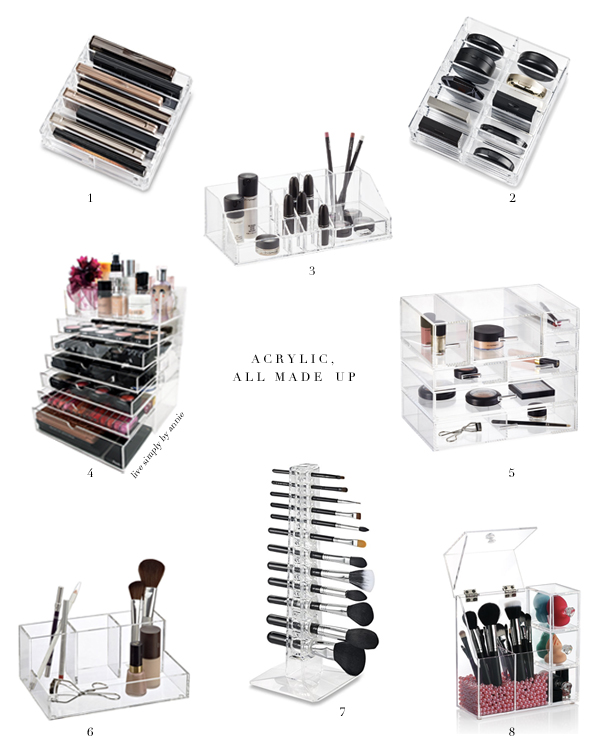 8 Acrylic makeup organizers that are as functional as they are stylish.