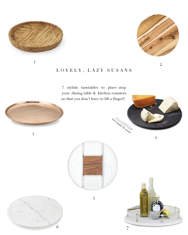 7 Stylish Lazy Susan Turntables