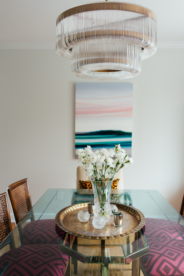 Taking notes on designer Erin Kestenbaum's beautifully layered, vintage-meets-glam spaces.