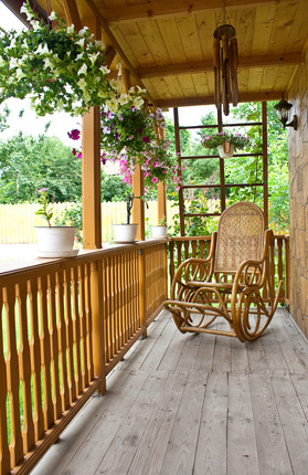 rocking chair on a pretty porch