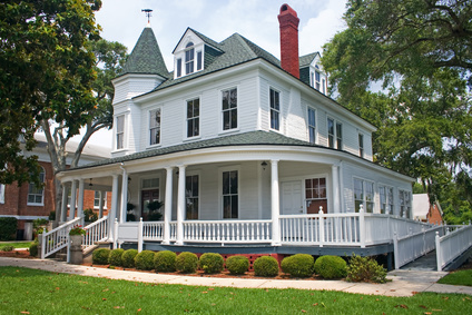 Victorian house with wraparound porch
