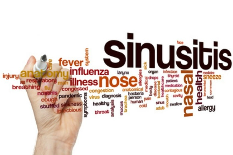 A tag cloud of sinus troubles