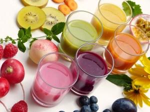 smoothies, juice, fruit
