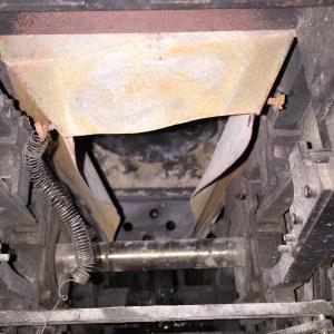 The worn ash pan.