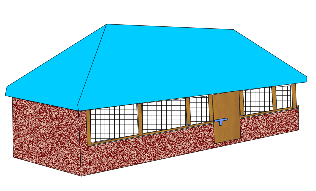 Deep litter house for 130 layers