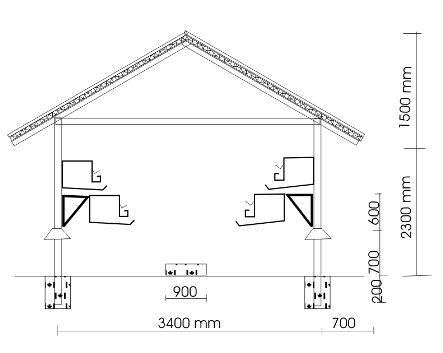 Open layer house and cage arrangement