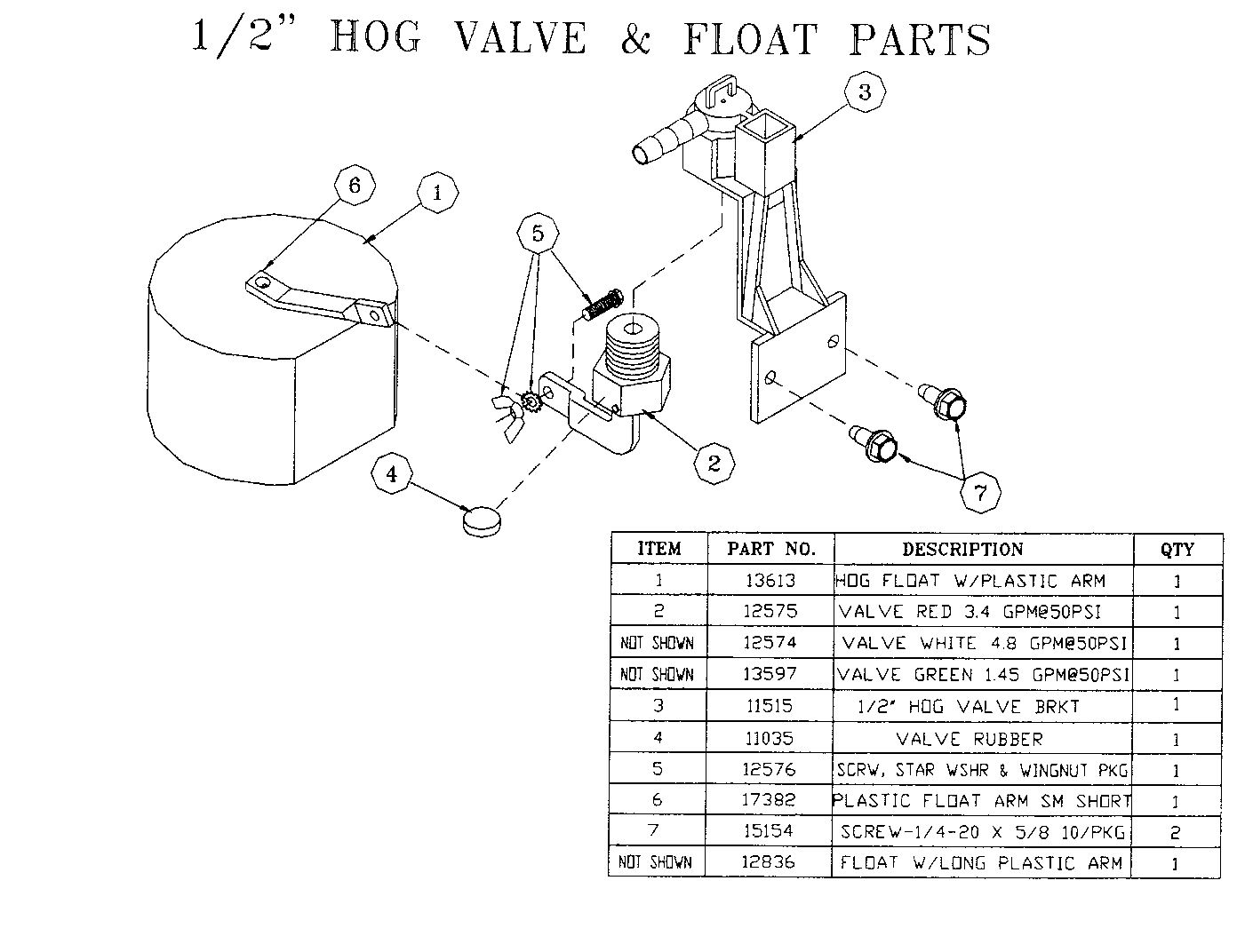 1 2 Hog Valve Amp Float Parts