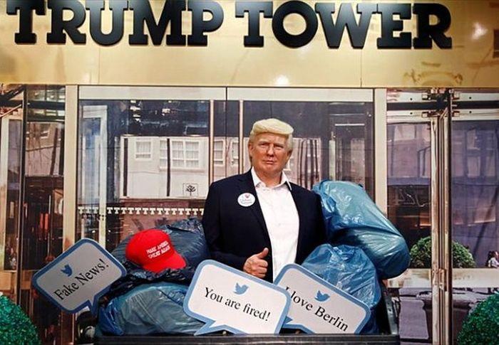 Το Μουσείο κέρινων ομοιωμάτων Μαντάμ Τισό πέταξε στα σκουπίδια το άγαλμα του Τραμπ