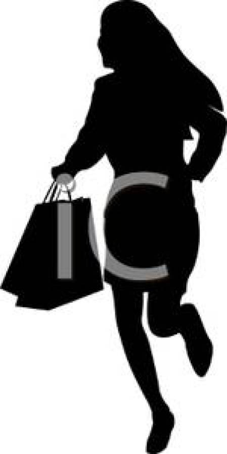 A Silhouette Teenager Shopping At the Mall Royalty Free Clipart Picture 100915 150400 499053