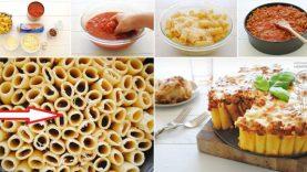 rigatoni-pasta-pie-collage