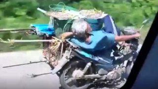 Ο τρόμος της ασφάλτου! Ηλικιωμένος οδηγεί και …κοιμάται! (Video)