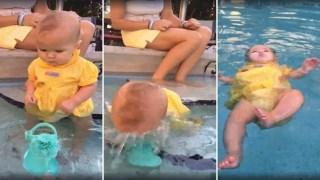 Έπεσε το Μωρό της μέσα στην Πισίνα και απλά το Κοιτούσε. Δείτε το Βίντεο που έχει διχάσει το Διαδίκτυο!