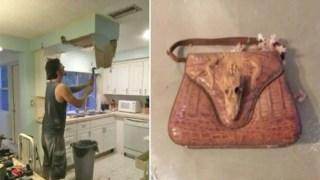 Έκανε Ανακαίνιση στο Σπίτι του, όταν Βρήκε μία Τσάντα μέσα στον Τοίχο. Μόλις την Άνοιξε, δεν Πίστευε στα Μάτια του!