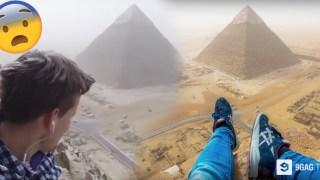 Σκαρφάλωσε Παράνομα στην Μεγάλη Πυραμίδα της Αιγύπτου. ΑΥΤΟ που Κατέγραψε με την Κάμερά του, θα σας Κόψει την Ανάσα!
