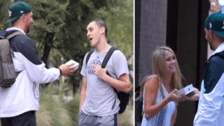 Ένας τύπος βγήκε στο δρόμο και μοίρασε τυχαία iPhone X σε περαστικούς (Βίντεο)