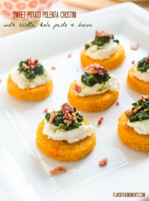 sweet-potato-polenta-crostini-with-ricotta-kale-pesto-and-bacon1-flavorthemoments.com_-500x672