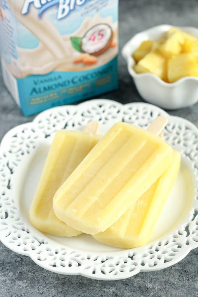 Coconut Pineapple Ice Pops