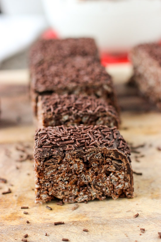 Triple Chocolate Rice Krispie Treats