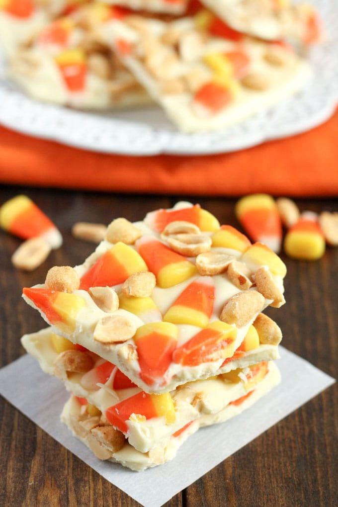 Candy Corn Peanut Bark