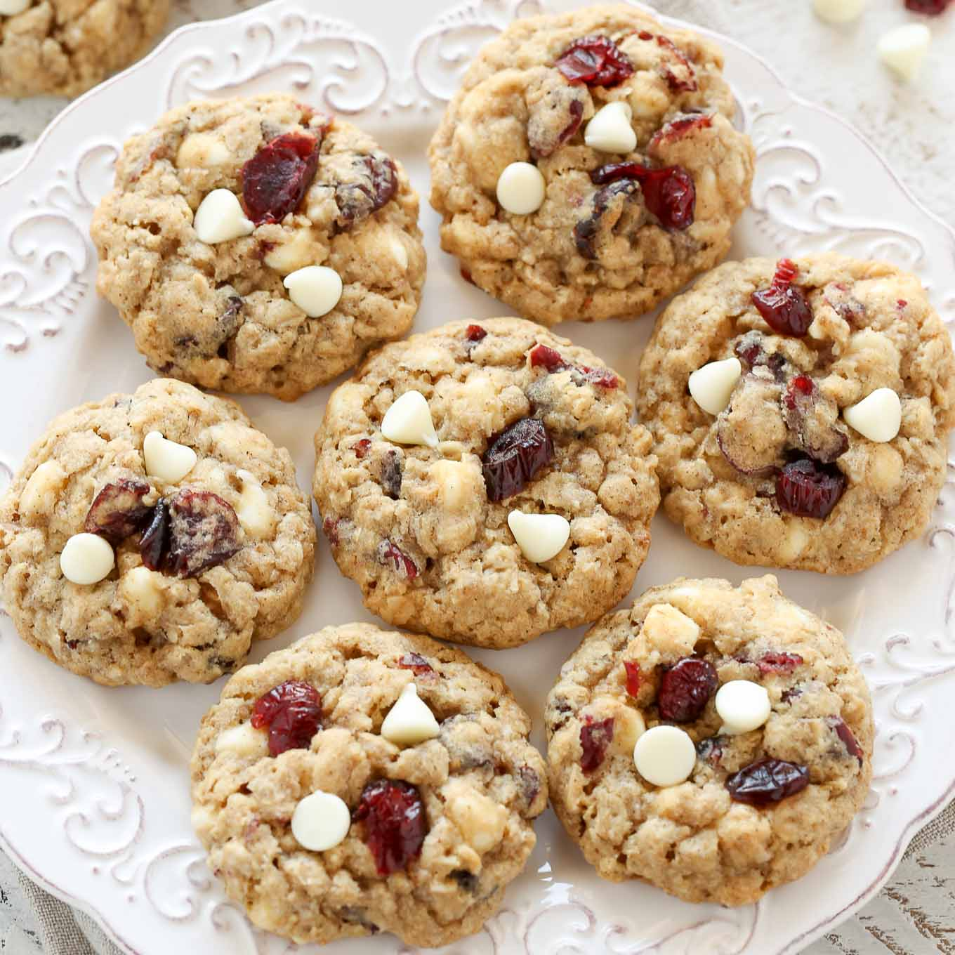 White Chocolate Oatmeal Cranberry Cookies Live Well Bake Often